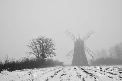 Photograph - Spooky Windmill by Kennerth and Birgitta Kullman