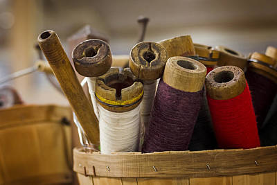 Sewing Photograph - Spools by Heather Applegate