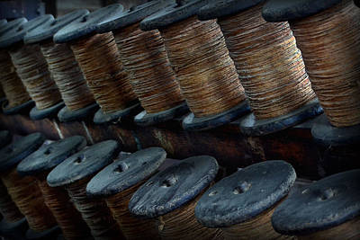 Photograph - Spools In A Row by Nadalyn Larsen