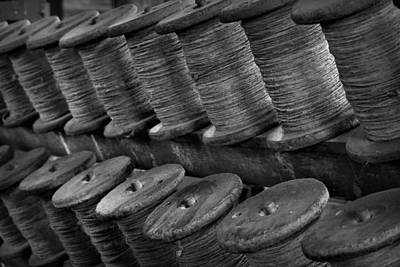Photograph - Spools In The Rope House by Nadalyn Larsen