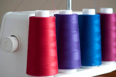 Spools Of Thread Art Print by Jim Corwin