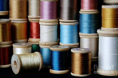 Photograph - Spools  by Sarah Schroder