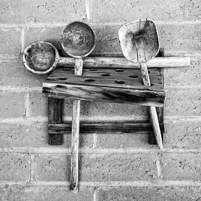 Art Print featuring the photograph Spoon Rack by Beverly Parks