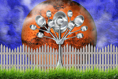 Mixed Media - Spoon Tree by Ally  White