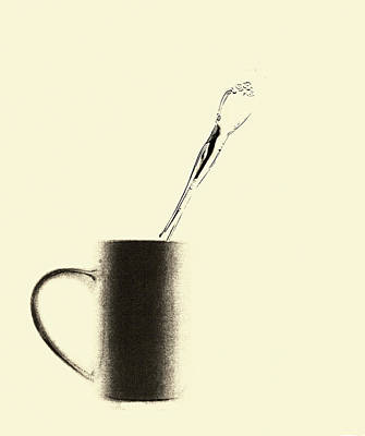 Spoon With Cup Art Print