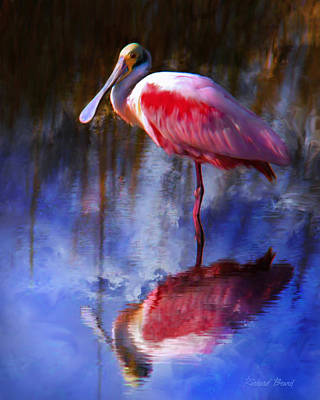 Spoonbill Digital Art - Spoonbill by Richard Beard