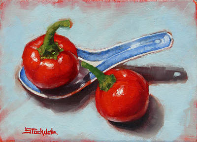 Painting - Spoonful Of Chilli by Margaret Stockdale