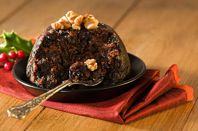 Table Setting Photograph - Spoonful Of Christmas Pudding by Amanda Elwell