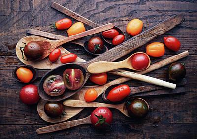 Tomato Wall Art - Photograph - Spoons&tomatoes by Aleksandrova Karina