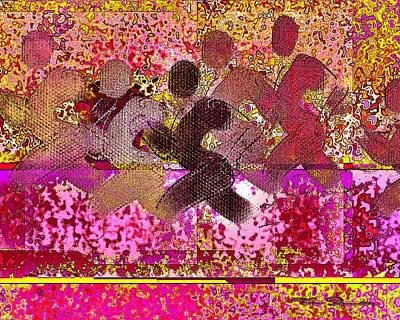 Jogging Digital Art - Sport B 4 B by Theo Danella
