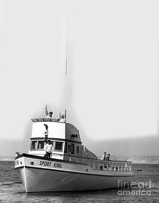 Photograph - Sport King Fishing Trips Fishermens Wharf Monterey California Circa 1960 by California Views Archives Mr Pat Hathaway Archives