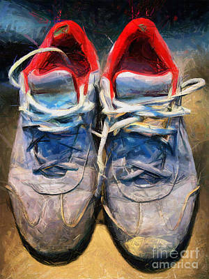 Achieving - Sport shoes drawing by Daliana Pacuraru