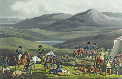 Scottish Drawing - Sporting Meeting In The Highlands by Henry Thomas Alken