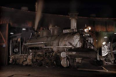 Engine House Photograph - Sportmodel K28 In Durango Roundhouse by Ken Smith