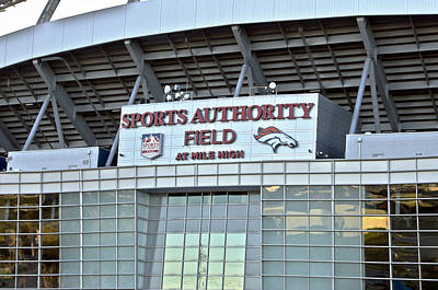 Sports Authority Field At Mile High Print by Angelina Vick