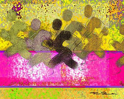 Jogging Digital Art - Sports B 2 by Theo Danella