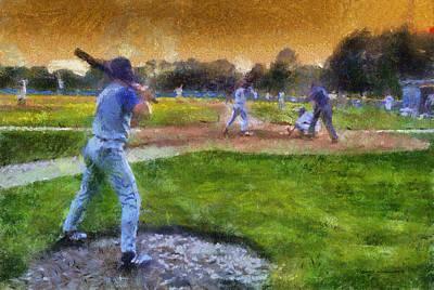 Sports Baseball On Deck Photo Art Art Print by Thomas Woolworth
