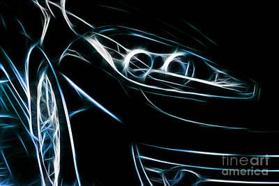 Digital Art - Sports Car by Dan Radi