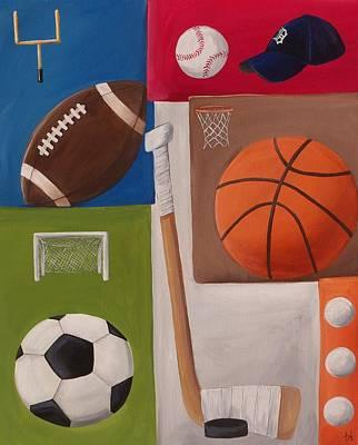 Sports Collage Art Print by Tracie Davis