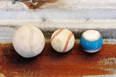 Sports - Game Balls Art Print by Art Block Collections