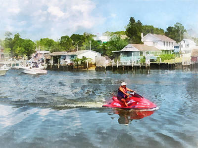 Photograph - Sports - Man On Jet Ski by Susan Savad