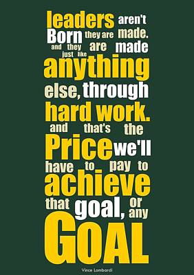Sports Quotes Poster Art Print by Lab No 4 - The Quotography Department