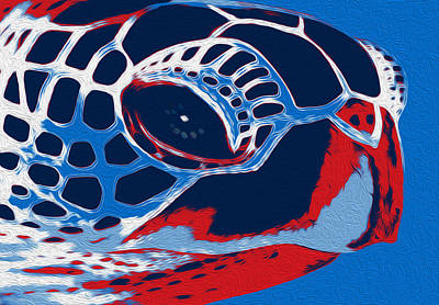 Sea Turtles Painting - Spot by Jack Zulli