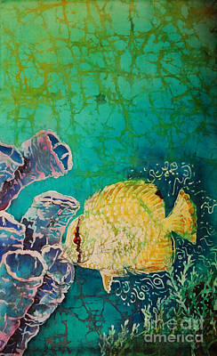 Ocean Painting - Spotfin Butterflyfish  by Sue Duda