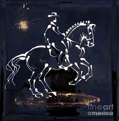 Spotlight Lusitano Art Print by Diane Schell