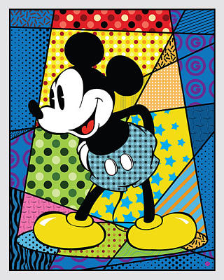 Painting - Spotlight Mickey 2 by Gary Grayson