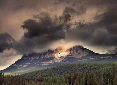 Photograph - Spotlight On Castle Mountain by George Cousins