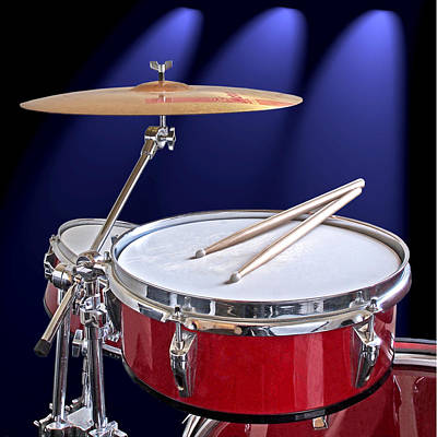 Photograph - Spotlight On Drums by Gill Billington