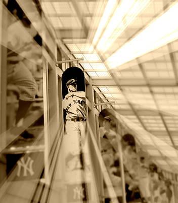 Lou Gehrig Vintage Photograph - Spotlight On The Iron Horse - Sepia by Aurelio Zucco