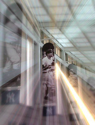 Yankee Stadium Digital Art - Spotlight On Yogi by Aurelio Zucco