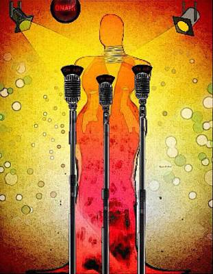 Spotlight Singa Art Print by Romaine Head