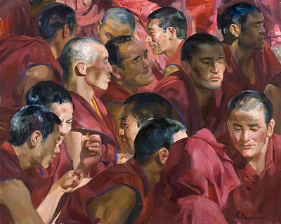 Buddhism Painting - Spots Of Light On  The Earth by Victoria Kharchenko