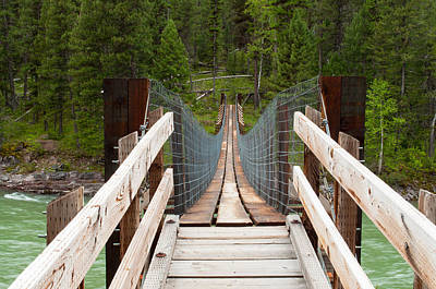 Photograph - Spotted Bear Footbridge by Fran Riley
