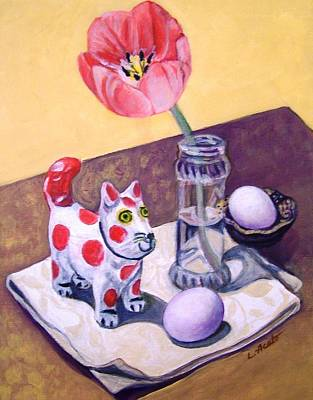 Painting - Spotted Cat by Laura Aceto