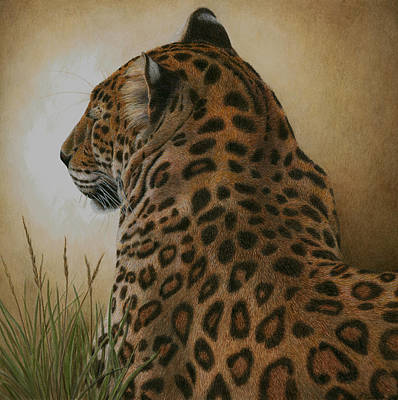 Wild Cat Painting - Spotted Elegance by Pat Erickson