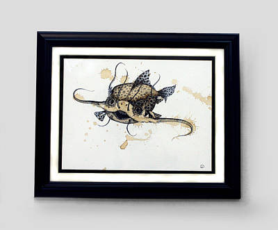 Catfish Mixed Media - Spotted Feelerfish by Lisa Stevens