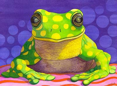 Frogs Painting - Spotted Frog by Catherine G McElroy