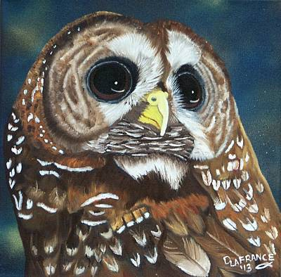 Hunter Painting - Spotted Owl by Debbie LaFrance