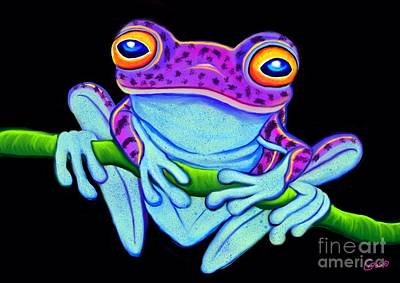 Critters Digital Art - Spotted Purple Frog by Nick Gustafson