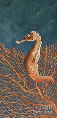 Spotted Seahorse Original by Christiane Schulze Art And Photography