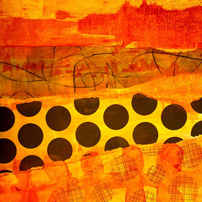 Handmade Paper Painting - Spotted Sunset by Nancy Merkle