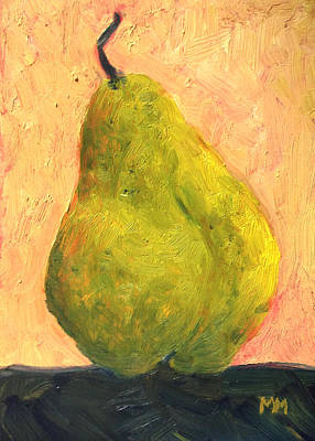 Spotted Yellow Pear Print by Marie-louise McHugh