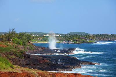 Poipu Photograph - Spouting Horn, Poipu, Kauai, Hawaii by Douglas Peebles