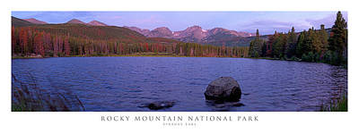 Panoramic Photograph - Sprague Lake Rocky Mountain National Park by Posters of Colorado