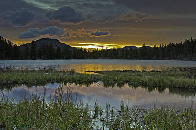 Sprague Lake Sunrise Art Print by Tom Wilbert