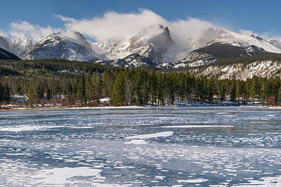 Photograph - Sprague Lake Winter by Aaron Spong